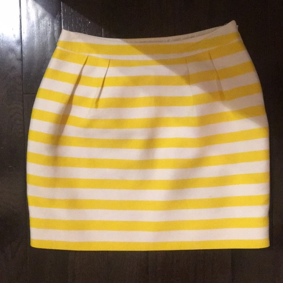 e1c1305bcc kate spade Skirts | Yellow And White Striped Skirt | Poshmark